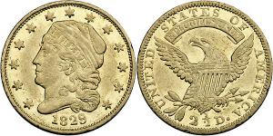 Capped Bust Quarter Eagle $2.50 Gold Coin Values