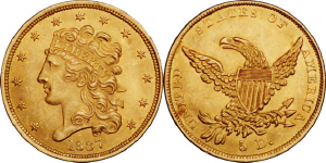 Classic Head Half Eagle $5 Gold Coin Values