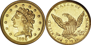 Classic Head Quarter Eagle $2.50 Gold Coin Values