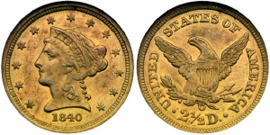 Liberty Head Quarter Eagle $2.50 Gold Coin Values