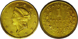 Liberty Head Type One $1 Gold Coin Values
