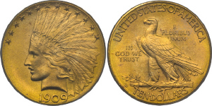 Indian Head Eagle $10 Gold Coin Values