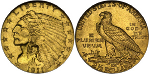 Indian Head Quarter Eagle $2.50 Gold Coin Values