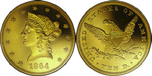 Liberty Head No Motto Eagle $10 Gold Coin Values