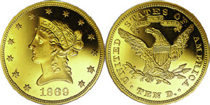 Liberty Head With Motto Eagle $10 Gold Coin Values
