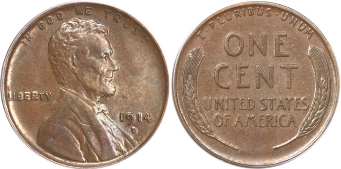 AU58 Lincoln Cent Grading